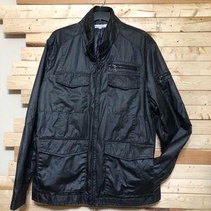 Kenneth Cole Metallic Black Mens Jacket size XXL